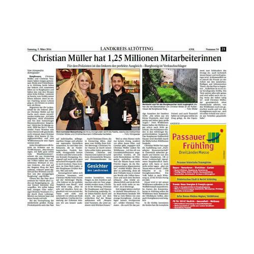Christian Müller hat 1,25 Millionen Mitarbeiterinnen