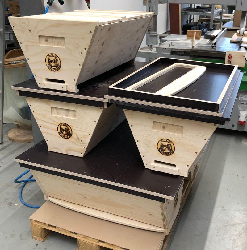 Fertigung der Bienenbarke